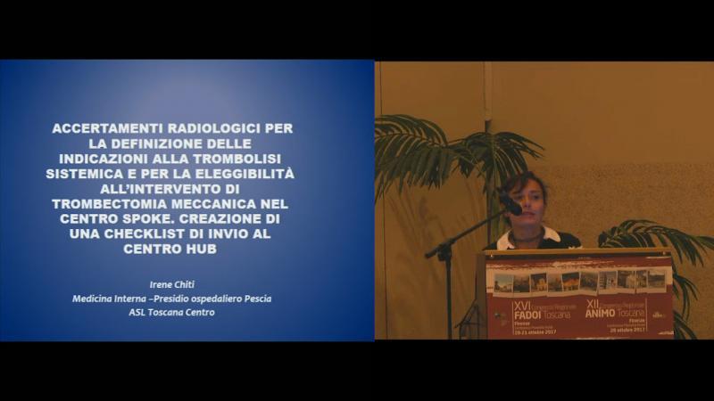 Accertamenti radiologici per la definizione dell'indicazione alla trombolisi sistemica e per la elegibilità all'intervento di trombectomia meccanica nel centro Spoke. Creazione di una check list di invio al centro Hub