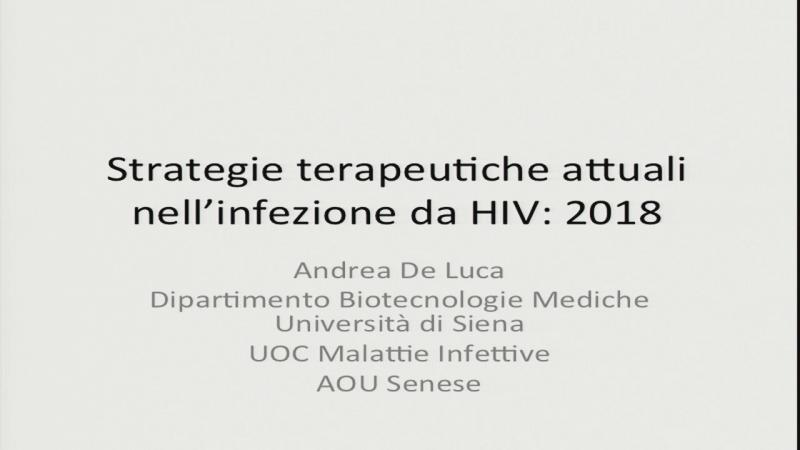 Strategie terapeutiche attuali nell'infezione da HIV